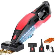 MANLI Handheld Vacuum Cordless Cleaner Rechargeable, 8.5Kpa Portable Powerful Cyclonic Suction Hand Vacuum Quick Charge, Lightweight Wet Dry Vac with HEPA Filter for Home Pet Hair Car Cleaning