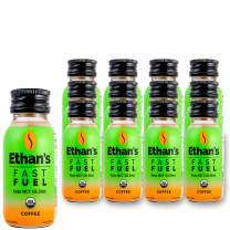 Ethan's Fast Fuel Coffee, Keto MCT Oil Shot from Coconut Oil, Paleo Friendly, Organic, Vegan, Plant Based Diet, 20mg Caffeine Supplement, Sugar Free, Gluten Free, (12 Pack of 2oz Shots)