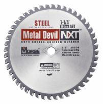 MK Morse CSM72548NSC Metal Devil NXT Circular Saw Blade, 7-1/4-Inch Diameter, 48 Teeth, 5/8-Inch Knock-out Arbor, for Steel Cutting