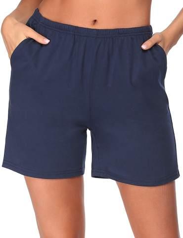 Ekouaer Pajama Bottoms Women's Soft Sleep Shorts Cotton Solid Sleepwear Pants with Pockets S-XXL