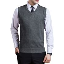 Zicac Men's Argyle Sweater Vest V-Neck Sleeveless Cable Knit Pullover Sweater Vest