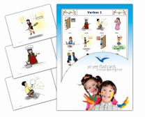 Tarjetas de vocabulario - Verbos 1 - Verbs Flash Cards in Spanish for Kids, Toddlers 2-4, Children and Adults