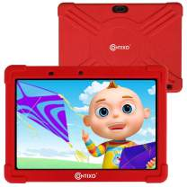 Contixo K101 10 Inch Kids Tablets - 16 GB IPS HD Display - WiFi Android Tablet with 2GB RAM - Bluetooth Tablets for Kids with Parental Control - Great Toddler Tablet for Preschool Toy (Red)
