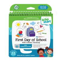 LeapFrog LeapStart Pre-Kindergarten Activity Book: First Day of School and Critical Thinking, Great Gift for Kids, Toddlers, Toy for Boys and Girls, Ages 3, 4, 5