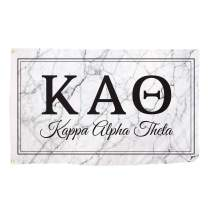 Kappa Alpha Theta Letter Sorority Flag Banner 3 feet x 5 feet Sign Decor Theta (Flag - Marble Box)
