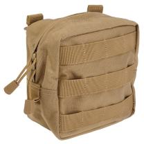 """5.11 Tactical 6"""" x 6"""" All Weather Nylon Molle Pouch Tech, YKK Zipper Hardware, Style 58713"""