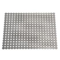"iDesign Orbz PVC Plastic Sink Grid, Non-Skid Dish Protector for Kitchen, Bathroom, Basement, Garage, 12.5"" x 15.5"" - Gray"