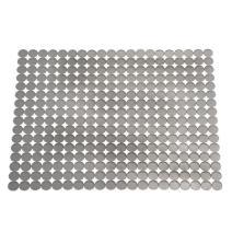 "iDesign Orbz PVC Plastic Sink Grid, Non-Skid Dish Protector for Kitchen, Bathroom, Basement, Garage, 12.5"" x 15.5"" - Gray"