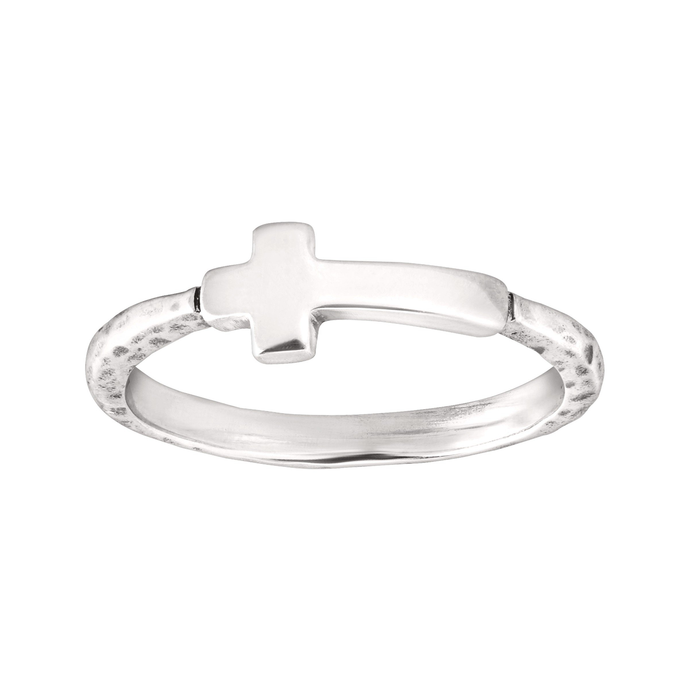 Silpada 'Simplex Cross' Horizontal Cross Textured Ring in Sterling Silver