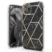 TiTiShark Marble Series Case for iPhone 11 Pro Case, Slim Thin Glossy Soft TPU Rubber Gel Phone Case Cover Compatible iPhone 11 Pro 5.8 Inch 2019 Release-Black