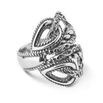 Carolyn Pollack Sterling Silver Rope Filigree Loop Ring Size 05 to 10