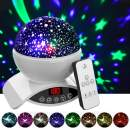 Amouhom Night Light Baby Star Projector, 8 Color Rotation Lamp with Timer Remote and Chargeable, Dimmable Combinations Romantic Starry Sky Best Gift for Kids Festival Bedroom Living Room (White)