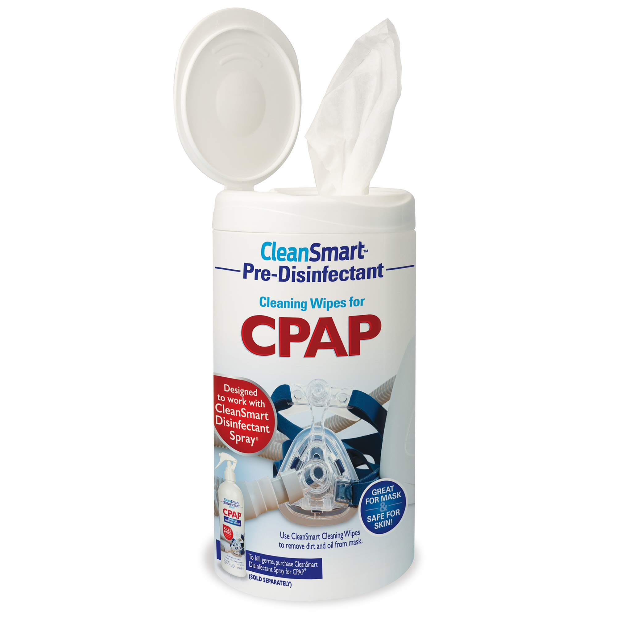 CleanSmart CPAP Cleaning Wipes, Unscented and Formulated to Clean CPAP Mask and Equipment Without Irritating Skin, 75 Count
