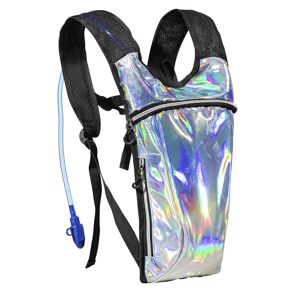 ECEEN Rave Pack Hydration Backpack with 2L Water Bladder Bag for Music Festivals, Raves, Hiking, Biking, Climbing, Running, Outdoors and More