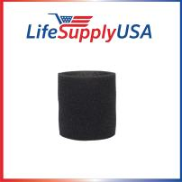 LifeSupplyUSA Foam Sleeve Wet Dry Filter Compatible with ShopVac 90585 9058500 9058562 Type R and Most VacMaster Genie Shop Vacuum Cleaners