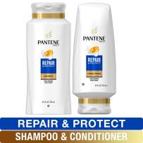 Pantene, Shampoo and Conditioner Kit, with Argan Oil, Pro-V Repair and Protect for Damaged Hair, 25.4 oz and 24 oz, Kit