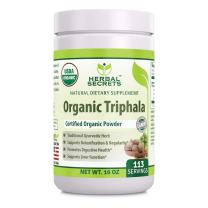 Herbal Secrets USDA Certified Organic Triphala 16 Oz(1 Lb) Gluten-Free, (Non-GMO)- Supports detoxification and Regularity* Promotes Digestive Health*