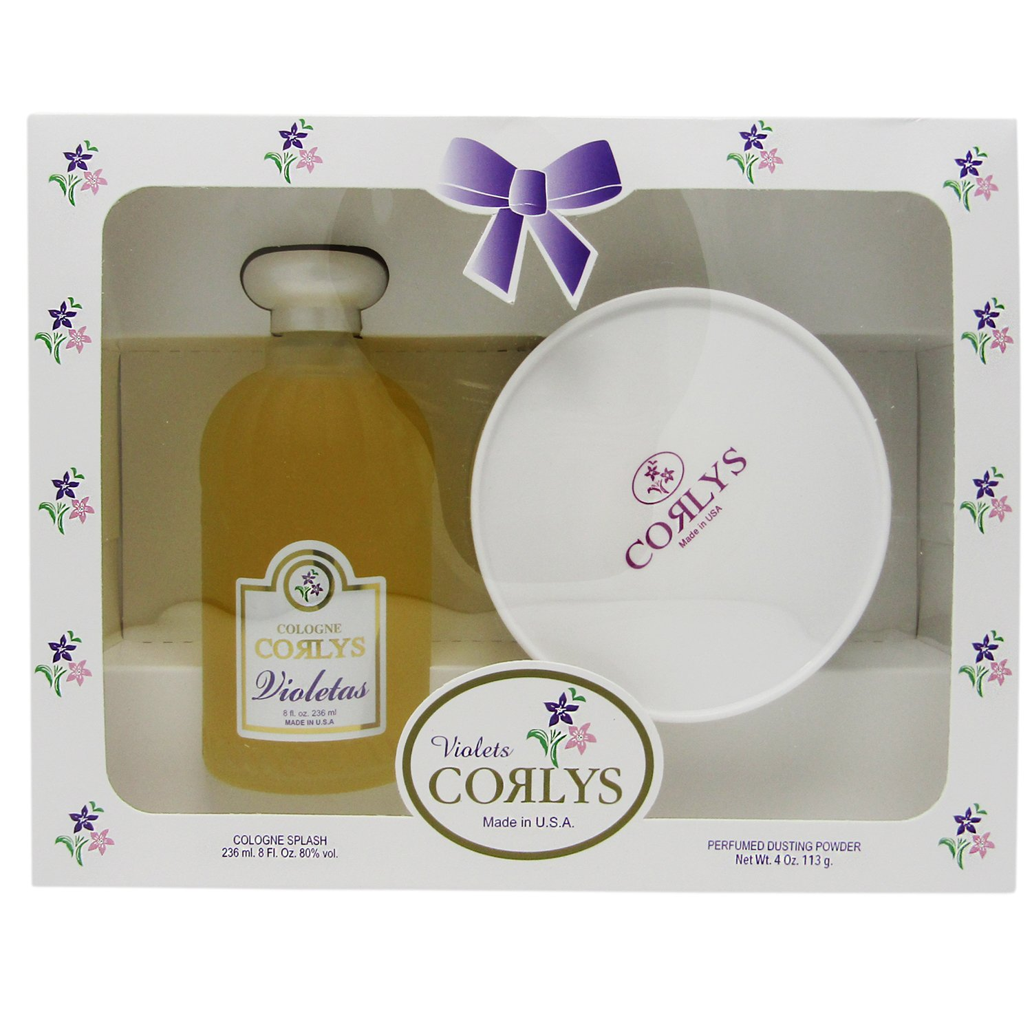 Corlys Violet Baby Cologne and Perfumed Dusting Powder