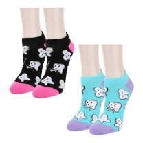 Zmart Women Girls Novelty Funny Teeth Nurse Ankle Socks, Dental Nursing Gift