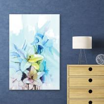 wall26 Canvas Wall Art - Watercolor Style Flowers - Giclee Print Gallery Wrap Modern Home Decor Ready to Hang - 16x24 inches