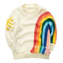 Sooxiwood Little Girls T-Shirt Rainbow Long Sleeve
