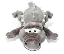 """Puzzled Plush Alligator, 33"""" Adorable Soft Huggable Decorative, Excellent Gift, Party Favors, Props,, Surprise Bag Items for Kids, Children, Toddler Stuffed Animals Toys & Games, Gray (XL)"""