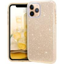 MATEPROX iPhone 11 Pro Max case,Bling Sparkle Cute Girls Women Protective Case for iPhone 11 Pro Max 6.5 inch(Gold)
