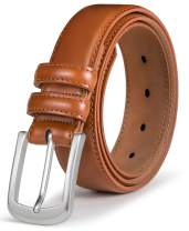 Mens Belt,Bulliant Genuine Leather Belt for Men's Dress Jeans Golf Belt