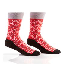 Yo Sox Canada Inspired Cool Men's Red Crew Socks - Funky Socks for Dress or Casual Wear Size 7-12
