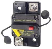 Bay Marine Supply 285 Series Circuit Breaker – 80A Surface Mount 48V DC Max – Ignition Protected Single Pole Thermal MRCB Marine Rated Weatherproof Auto, Manual, Switchable Reset