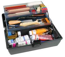 ArtBin 8399 Upscale 2-Tray Box, Portable Art & Craft Organizer with Lift-Up Trays, Gray