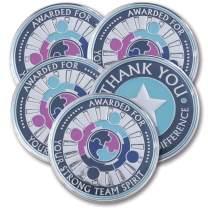 AttaCoin - 5 Coins - Employee Appreciation Gifts - Motivation Award (5 Pack, Teamwork)