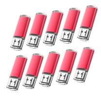 KOOTION 10 X 2GB USB 2.0 Flash Drives 10 Pack USB Flash Drives Pen Drive Memory Stick Thumb Drive USB Drives, Red
