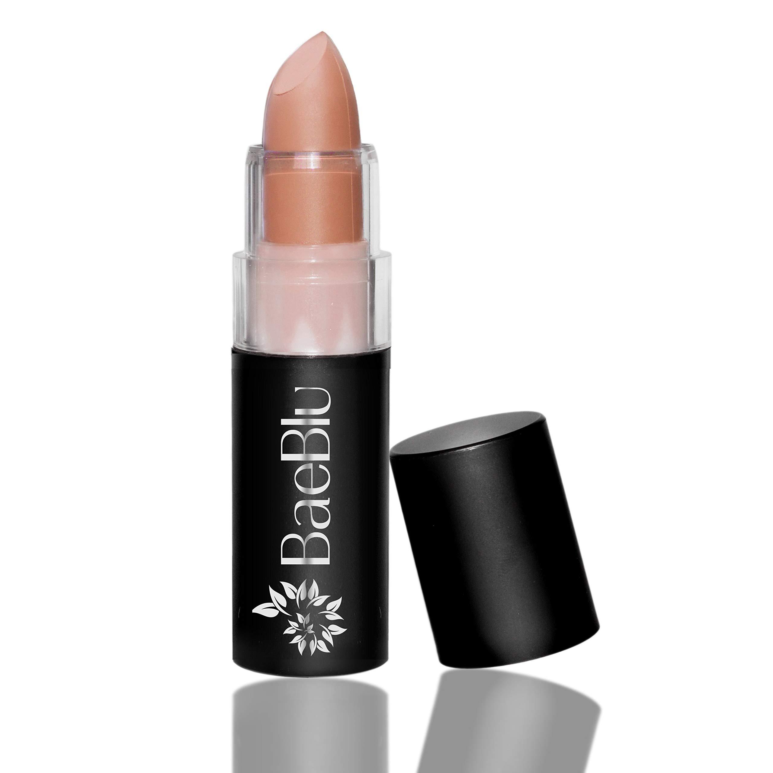 BaeBlu Organic Lipstick 100% Natural Hydrating Antioxidant-Rich, Made in USA, Matte Feelin' Peachy