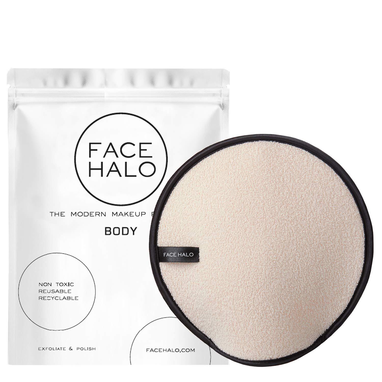Face Halo   BODY Exfoliating Washcloth Mitt, Soft Dual-Sided Wet & Dry Face & Body Exfoliator - Body Scrubber Exfoliating Cloth Pad