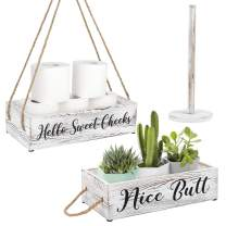 OurWarm Nice Butt Bathroom Decor Box, 2 Sides with Toilet Paper Holder Wall Decor Perfect for House Decor, Modern Farmhouse Decor, Toilet Paper Storage, Rustic Bathroom Decor, Funny Bathroom Signs