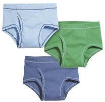 City Threads Boys All Cotton Briefs Underwear 3-Pack for Sensitive Skin - Made in USA