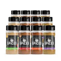 Meal Prep Spices 12 Bottle Seasoning Set - Paleo, Kosher, Gluten Free- Bottle Set In Description- 3X of Master Chef Pack, Savory BBQ, Thai Curry, Fiesta Taco, Rustic Herb Garlic Onion (12 Bottles)