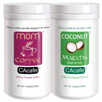 CAcafe Mom Coffee and Coconut Matcha Tea Variety 2 Pack
