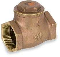 "Smith-Cooper International 9191L Series Brass Swing Check Valve, Potable Water Service, 4"" NPT Female"