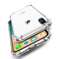 ORIbox Case for iPhone 11 pro, Crystal Clear Case with 4 Corners Shockproof Protection, Soft Scratch-Resistant TPU Cover for iPhone 11 pro, 5.8 inches.