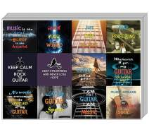 Creanoso Guitar Decal Stickers for Musicians and Guitarists (10-Sheet) – Premium Gift Set - Inspiring Words Wall Stickers Assorted Set – Premium Quality Card Stock – Unique Party Favors – DIY Kit