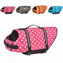 Doglay Dog Life Jacket with Reflective Stripes, Dog Lifesaver Adjustable Pet Life Preserver with High Buoyancy Swimsuit for Small Medium and Large Dogs