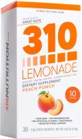 310 Lemonade Peach Punch - Slimming Lemonade Helps Restore PH Balance to Your Body Sugar-Free and Caffeine-Free Water Enhancer Beverage Includes 30 Individual Servings