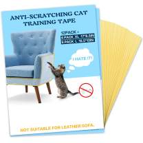 Cat Deterrent Tape Kitten Scratch Tape Cat Furniture Protector Double Sided Sofa Couch Anti Scratching Cat Training Tape 12 Pack (No Pins)