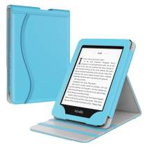 TiMOVO Case Compatible for Kindle Paperwhite E-Reader (10th Generation, 2018 Release), Vertical Multi-Viewing Stand Wallet Cover Auto Sleep/Wake Case Fit Amazon Kindle Paperwhite - Sky Blue