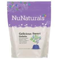 NuNaturals Premium Sweet Gelatin Powder, 14 Ounces, Sweetened