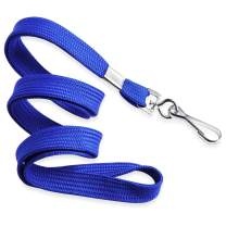MIFFLIN Flat Lanyards for ID Badges (Blue, 36 Inch, 25 Pack), Comfortable Neck Straps