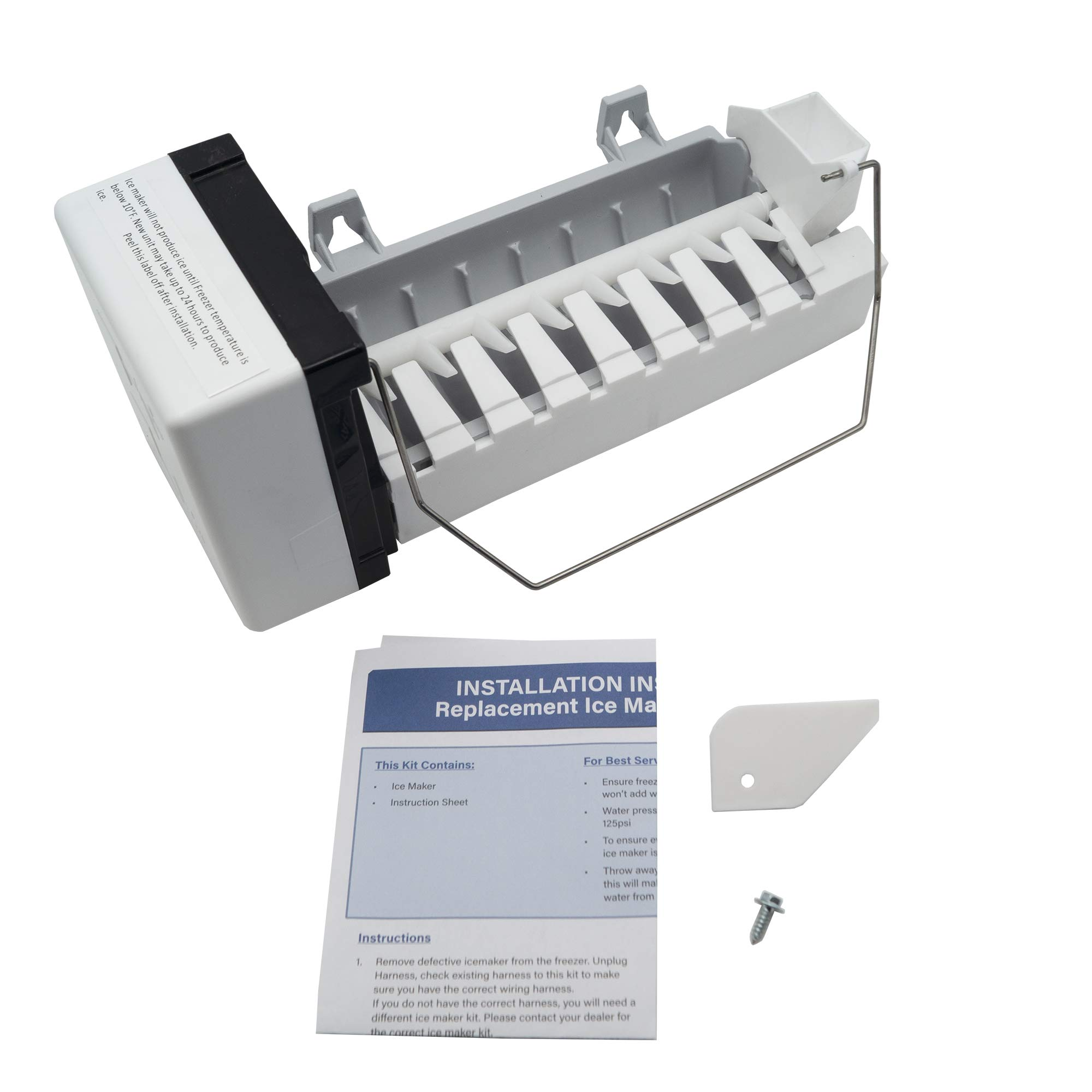 Supplying Demand D7824706Q Ice Maker Compatible With Whirlpool Fits 0056504, 0056599