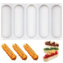 FUNSHOWCASE 5 Cavities Pillow Silicone Mold Tray per Cavity 5.7x1.8x1.2inch
